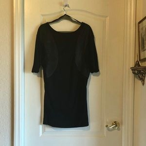 Armani Exchange black mini dress /satin inserts